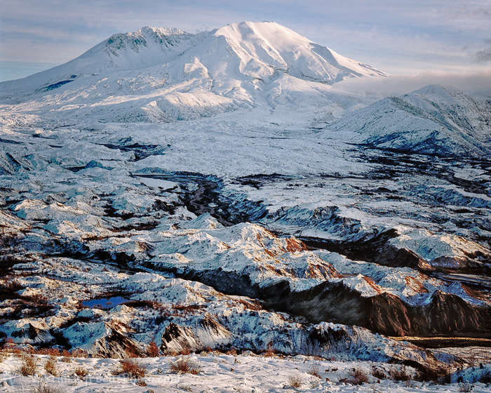 Mt Saint Helens Mid Winter
