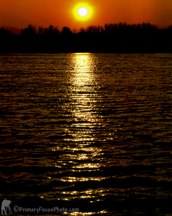 Columbia River Sun Set
