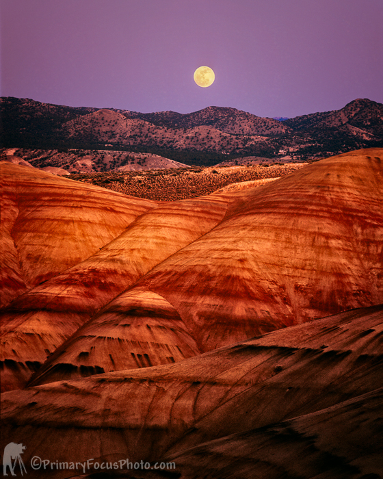 Moonrise Painted Hills