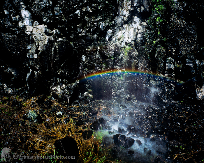 Rainbow in Waterfall